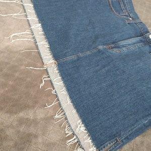 Madewell Skirts - Stretch Denim Straight mini skirt